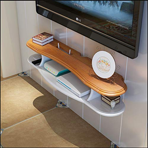 TLMYDD Mueble de Pared TV Estante de Almacenamiento Caja Decorativa Montaje en Pared decodificador de DVD Caja de TV por satélite Caja de Cable Estante Flotante Estante (Size : 90cm)