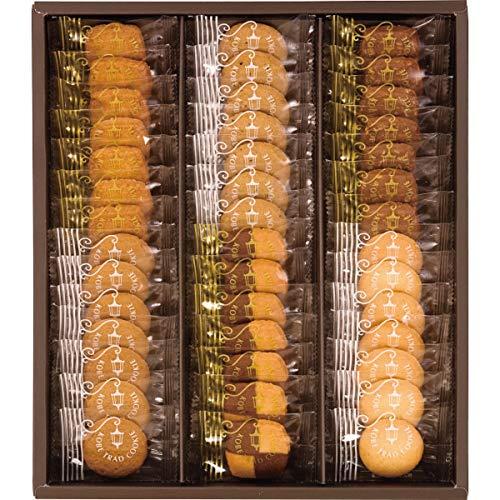 神戸トラッドクッキー クッキー詰め合わせ / 個包装で42枚入り 一口サイズで女性にもおすすめのサイズ / ココナッツ・紅茶・チョコアーモンド・カフェキャラメル・モザイク・プレーン×各7枚 / TC-15