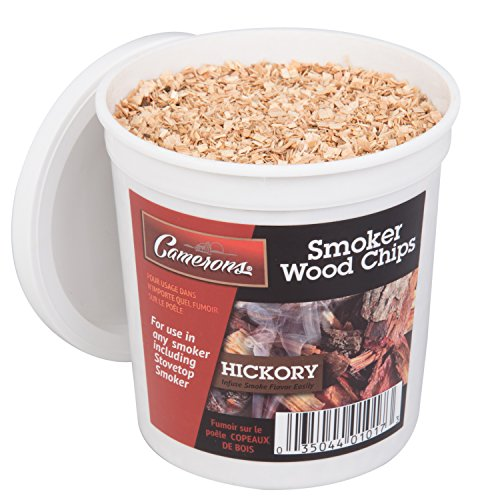 Camerons Products Smoking Chips Hickory  Kiln Dried All Natural Extra Fine Wood Smoker Sawdust Shavings  1 Pint Barbecue Chips