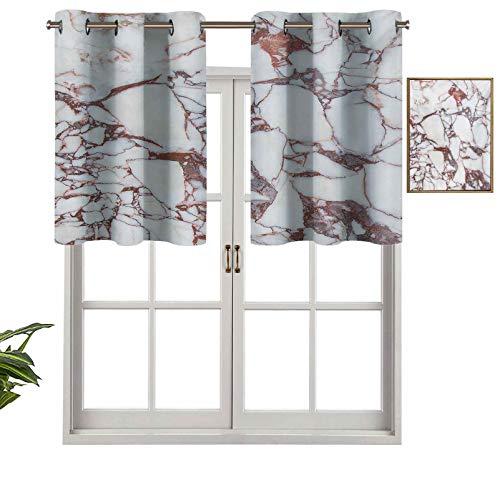 Hiiiman Cenefa de cortina para interiores y hogares, patrón de rocas de dolomita con remolinos característicos y líneas agrietadas, arte abstracto, juego de 1, 137 x 45 cm para baño y cafetería.