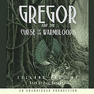 Gregor and the Curse of the Warmbloods     Underland Chronicles, Book 3              Written by:                                                                                                                                 Suzanne Collins                               Narrated by:                                                                                                                                 Paul Boehmer                      Length: 7 hrs and 47 mins     3 ratings     Overall 5.0