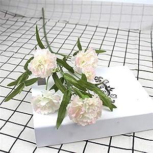 6 Head Artificial Carnation Flower Bouquet Simulation Small Carnation Fake Silk Flower Branch Home Decor Floral Festival Gift