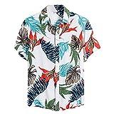 (B04,M)半袖シャツ メンズ 夏服 アロハシャツ ビーチシャツ 速乾 超軽量 プリントシャツ 夏 イベント 祭り 和柄シャツ ハワイアンシャツ 8