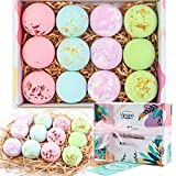 XXL 12pcs Bath Bombs Gift Set 2.5oz, Yimiyaa Organic & Natural Handmade Bubble Spa Bath, Essential Oil/Shea Butter/Coconut Oil to Moisturize Dry Skin, Birthday Mothers Day Gifts