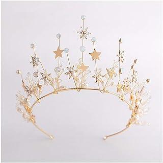 GAOJIAN Copricapo da Sposa Corona Signora Look da Matrimonio da Star Corona Principessa Accessori da Sposa