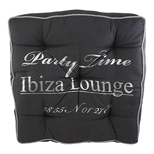 Sitzkissen Ibiza Party Time grau - Boxkissen Matratzen Kissen 40x40cm