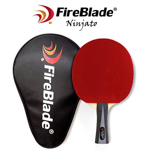 FireBlade 'Ninjato' - Carbon ITTF Table Tennis Bat with Case - 5-ply wood &...