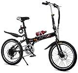TYXTYX Bicicleta Plegable,7 velocidades,transportable, Plegable para Transporte en Coche, autobús, caravanas, Transporte público,Adultos Unisex