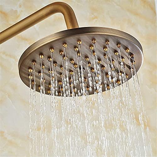 ZCSMTZ - Soffione doccia anticata per doccia, in ottone spazzolato, rotondo, con filtro da 20,3 cm, placcatura multistrato, giunto universale girevole