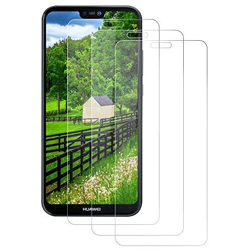 Aspiree 3 Stück Schutzfolie kompatibel für Huawei P20 Lite, HD Displayschutzfolie/Panzerfolie, Tempered Glas Schutzglas, Anti-Kratzer/Bläschen/Fingerabdruck/Staub Panzerglasfolie für P20 Lite