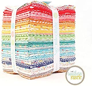 Riley Blake Farm Girl Vintage Fat Quarter Bundle (34 pcs) by Lori Holt 18 x 21 inches (45.72cm x 53.34cm) Fabric cuts DIY Quilt Fabric