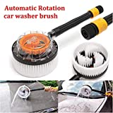 JSCARLIFE Vehicle Wash Brush,Automotive Window Cleaning Handle Non-Electric Automatic 360 Degree, Garden Sprinkling Tool