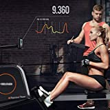 FYYDNR Rudergerät, mit LCD-Monitor Rower Row-Maschine-Übungs-Trainings-Maschine for den Heimgebrauch, 23,3 * 56,5 * 102cm Club Style, die Sturdy - 3