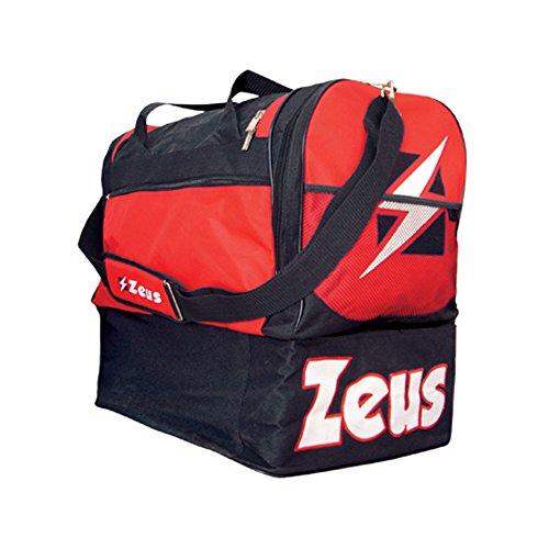 Zeus Herren Sporttasche Schultergurt Umhängetasche BORSA GAMMMA 52X52X36 cm (SCHWARZ-ROT)