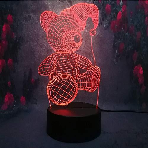 Solo 1 artículo Lámpara Bombilla Led Corazón romántico Amor de dibujos animados anime Luz de noche 3D Color de carga USB Gradiente Ilusión Estado de ánimo Niño Luz Juguete Decoración de regalo