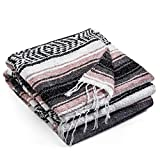 Authentic Mexican Blanket - Premium Yoga Blanket Beach Blanket - Perfect Picnic Blanket, Travel Blanket, Outdoor Blanket - Well Made Yoga Bolster