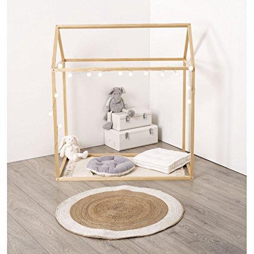 WEB2O Cabane décoration en pin Naturel pour lit Enfant - 126 cm