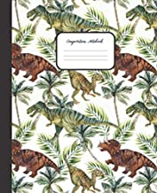 COMPOSITION NOTEBOOK: Dinosaur Fossils Design - Cute Wide Ruled Paper Notebook Journal - College classic Ruled Pages Large Lined Composition Book ... College & Writing Notes (Positive Vibrations)