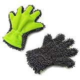 Fenster Zweiseitiger Autopflege Felgenbürste Auto Alu Felgen Reiniger-Handschuh für Autopflege Motorrad Fahrrad- und Felgenhandschuh zur Autoreinigung und Autoaufbereitung