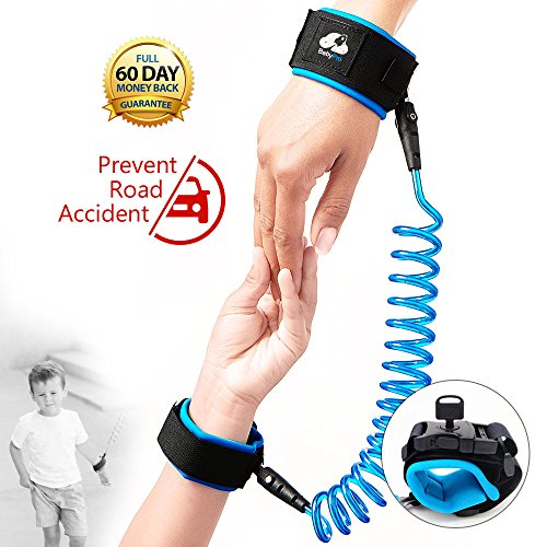 BB&PRO Anti Lost Wrist Link With Lock Toddler Leash Toddler Safety Harness Child Baby Kid Strap Leash, Blue