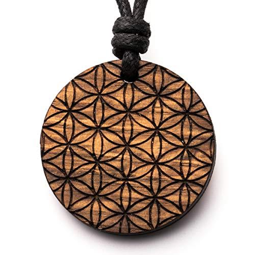 treeforce Blume des Lebens endlos Halskette, Schlüsselanhänger oder Auto- Anhänger 3in1 DIY Schmuck aus Kupfereiche