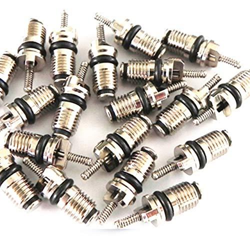 Style wei Núcleo de válvula de Aire Acondicionado Reparación 20PCS Universal R134a Coche de Aire Acondicionado automático de válvulas refrigerantes Core Válvulas Agujas Surtido Latón (Color : Black)