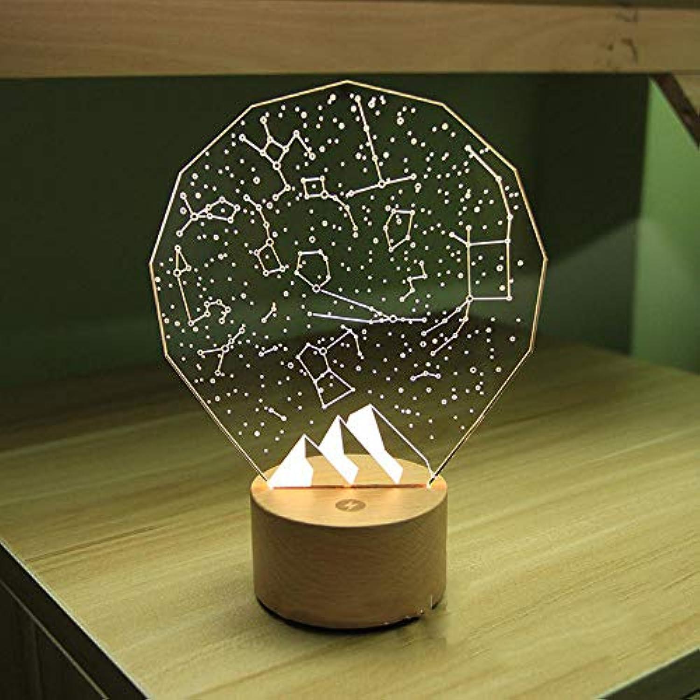 T-YXM 3D LED Starry Night Light Hauptdekoration Lampe Weihnachten Geschenk Sieben Laterne