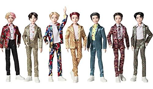BTS - Muñeca de Moda de 11 Pulgadas, 7 Unidades, basada en Bangtan Boys Global Boy Band, Cifras Altamente articuladas, Juguete para niños y niñas a Partir de 6 años