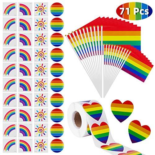 Wisolt 71PCS Rainbow Gay Pride Set