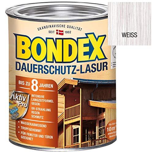 Bondex Dauerschutz-Lasur Weiß 0,75 l - 329931