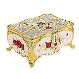 FEBT Caja de Almacenamiento de joyería, Caja de Almacenamiento, Cubierta de Espejo Decorativa de Escritorio Vintage para exhibición de Tienda colección Familiar