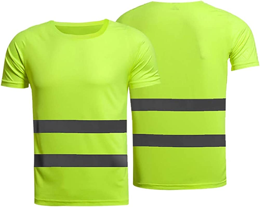 High New item Visibility Short Sleeve Safety Dry Shirt Special Campaign Cooling Quick Refl
