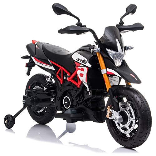 giordanoshop Moto Elettrica per Bambini 12V Aprilia Dorsoduro Rossa