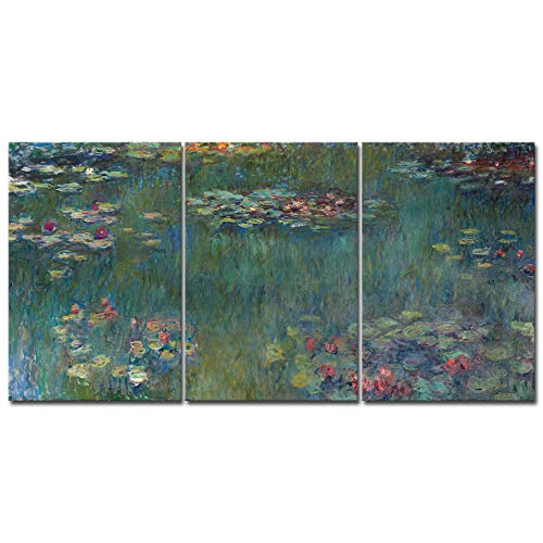Wieco Art Water Lilies Canvas Prints Wall Art of Claude Monet Famous Oil Paintings