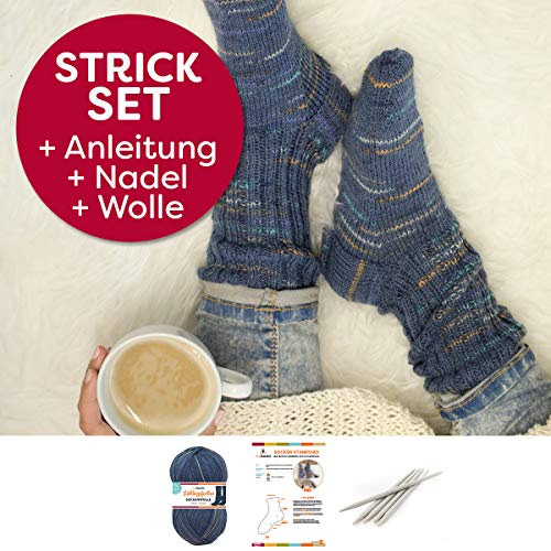 myboshi Socken Strick-Set | Lieblingsfarben Sockenwolle | 4-fädig und filzfrei | mit Stricknadeln | Stefan Schmidt