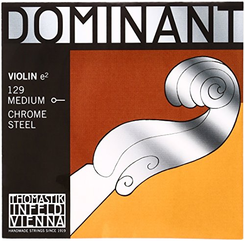 Thomastik Corda per 4/4 violino Dominant - corda Mi acciaio cromato vuoto, media, pallino