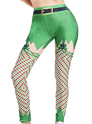 cxzas852 Frauen-Weihnachtsdruck-Kleidungs-Fitness-Trainingshose-Yoga-Hosen-Gamaschen