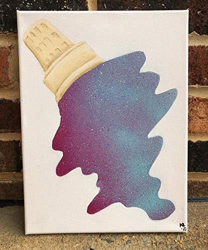 Ced454sy gesmolten ijs teken gesmolten ijs schilderij ijs teken Galaxy Schilderen ijs kunst spuiten verf kunst ijs Schilderen