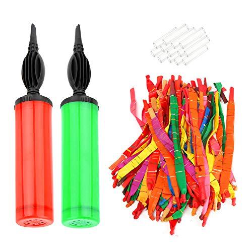 Rakete Luftballons Aozzy 100 mit Pipes und 2 Ballon Pumpe toll für Party