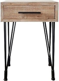 WALNUTA Fer forgé en Bois Massif Un Vintage rétro Vieux Bois Chambre Armoire de Chevet Petit Côté Cabinet
