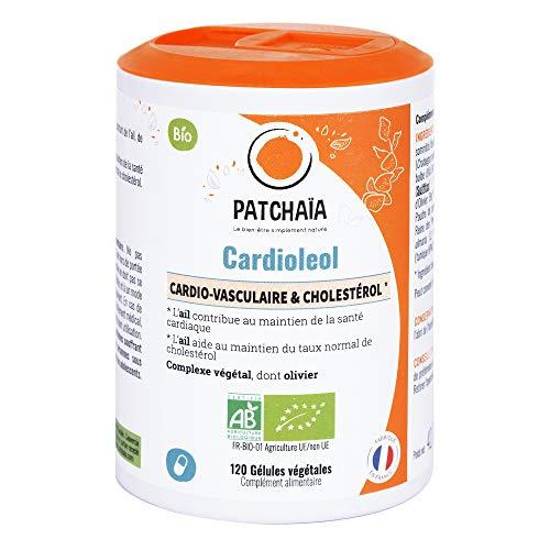 Cardioleol • Bio • Hart- Circulaire gezondheid • behoud van het cholesterolniveau • Knoflook Aubépin olijfboom • 120 plantaardige capsules vcaps • Gemaakt in Frankrijk • Patchaïa