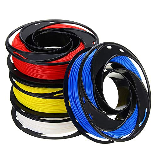 MICEROSHE Filament d'imprimante 3D Pro Bleu + Blanc + Jaune + Rouge Set 200g / Rouleau 1.75mm PLA Filament forCompatible with3D Imprimante Reprap (Couleur : 01, Taille : 1.75mm)