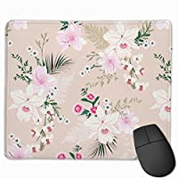 マウスパッド 蘭の花 ピンク色 マウスパッド ゲーミング オフィス最適 防水 耐久性が良い 滑り止めゴム底 マウスの精密度を上がる 25x30cm