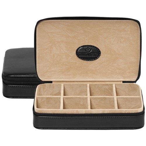 Windrose Merino Charmbox für die Reise 18,5 cm schwarz