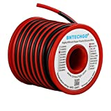 BNTECHGO 16 Gauge Silicone wire spool red and black each 25ft Flexible 16 AWG Stranded Copper Wire