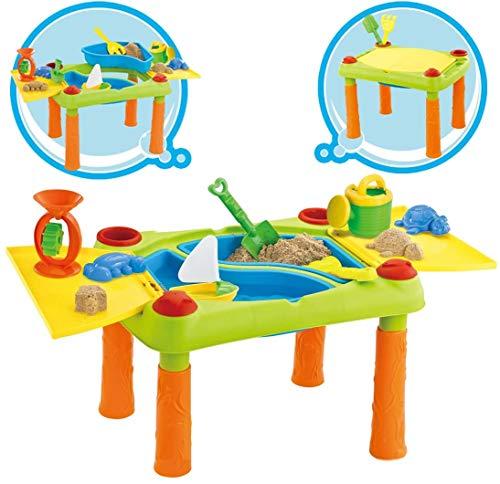 Inside Out Toys Mesita para Jugar con Agua y Arena - 2 en 1 - con Tapa abisagrada - Grande