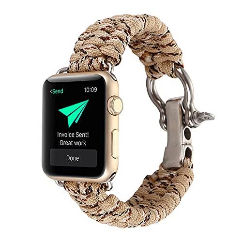KAEGREEL Solo Loop Compatible con Correa de Reloj Apple de 38 mm 44 mm, Correa de Repuesto Deportiva de Nailon elástico elástico con Hebilla Ajustable para IWatch Series 6/SE/5/4/3/2/1,1,38mm/40mm