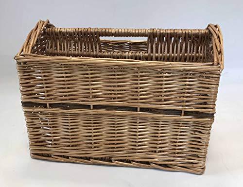 Home-ever Willow Wicker Magazine Storage Basket (Natural)