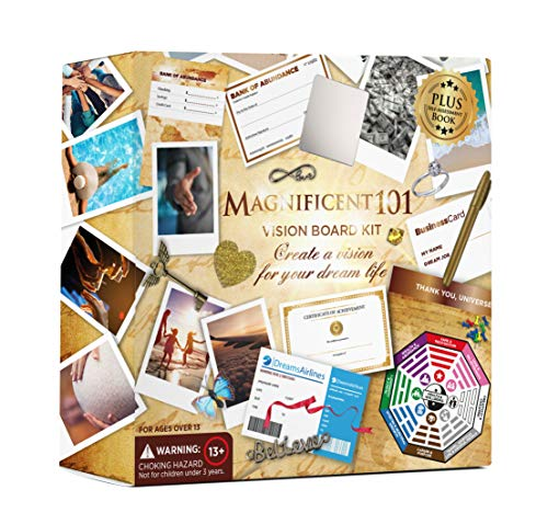 Product Image of the MAGNIFICENT 101 Vision Board Kit - Create a Board of Your Ambitions with +60...