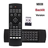 REDGO Air Mouse, 2.4G Backlit Backlight Remote Control, Mini Wireless Keyboard & infrared